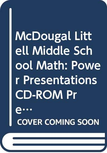9780618433520: McDougal Littell Pre-Algebra: Power Presentations CD-ROM
