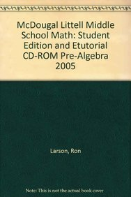 9780618433544: McDougal Littell Middle School Math: Student Edition and eTutorial CD-ROM Pre-Algebra 2005