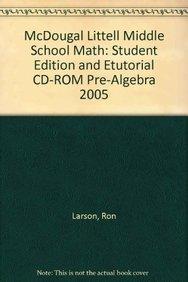 9780618433544: McDougal Littell Middle School Math: Student Edition and eTutorial CD-ROM Pre-Algebra 2005