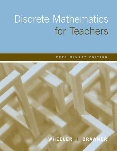 9780618433926: Discrete Mathematics For Teachers: Preliminary Edition