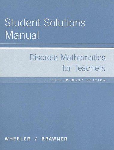 9780618433933: Discrete Mathematics for Teachers Student Solutions Manual