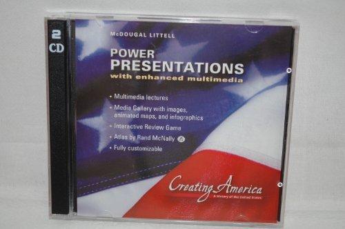 9780618437405: McDougal Littell Creating America: Power Presentations CD-ROM 05 Grades 6-8 Beginnings through World War I