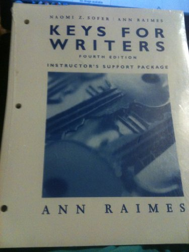 Keys for Writers a Brief Handbook Instructor's