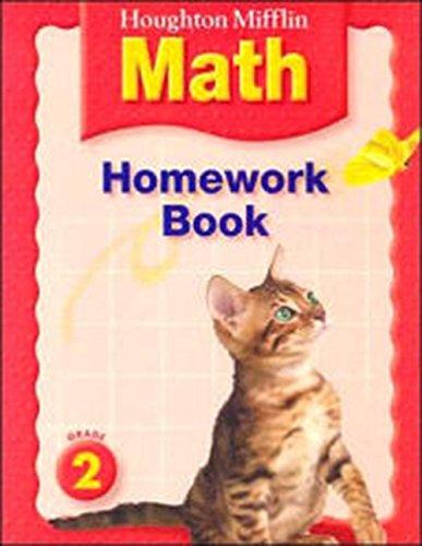 HM Math Homework Book Grade 2: Houghton Mifflin Company Staff