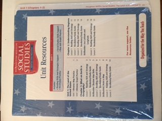 Houghton Mifflin Social Studies: Unit Research Folder Level 4 States And Regions (Hm Socialstudies ...