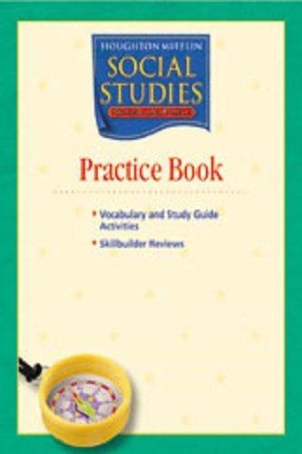 9780618438280: Houghton Mifflin Social Studies: Practice Book Level 1 School and Family