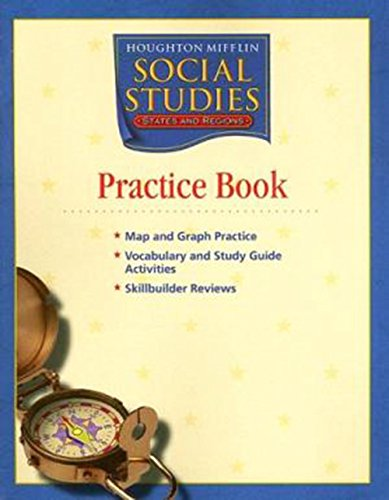 9780618438310: Houghton Mifflin Social Studies: Practice Book Level 4 States and Regions