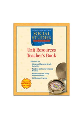 9780618438389: Social Studies: Unit Resources Teacher's Book (Houghton Mifflin Social Studies)