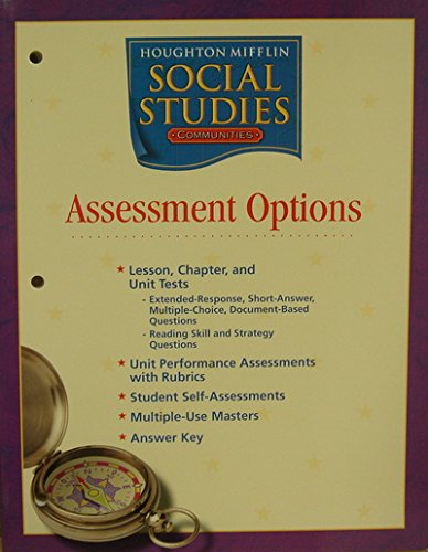 9780618438457: Houghton Mifflin Social Studies: Assessment Options Blackline Masters Grade 3 Communities