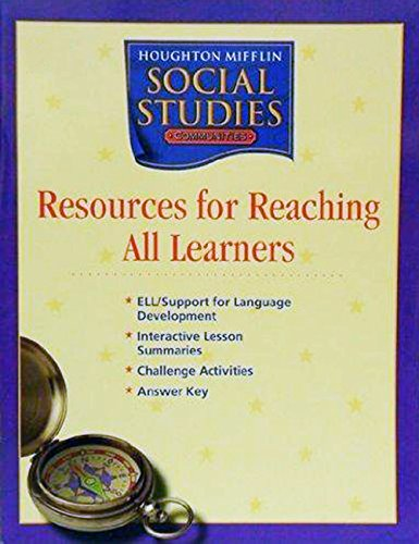 9780618438563: Houghton Mifflin Social Studies: Resources for Reaching All Learners