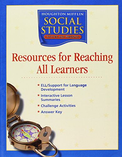 9780618438570: Houghton Mifflin Social Studies: Resources Research All Learn Blackline Masters Grade 4 States and Regions