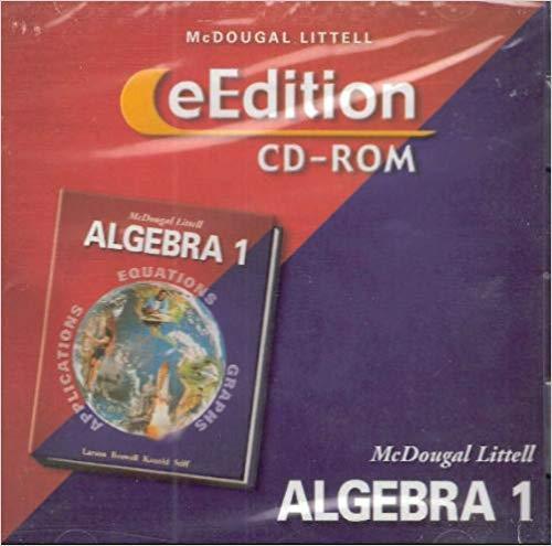 9780618439775: McDougal Littell Algebra 1: eEdition CD-ROM
