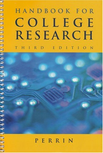 9780618441334: Handbook for College Research