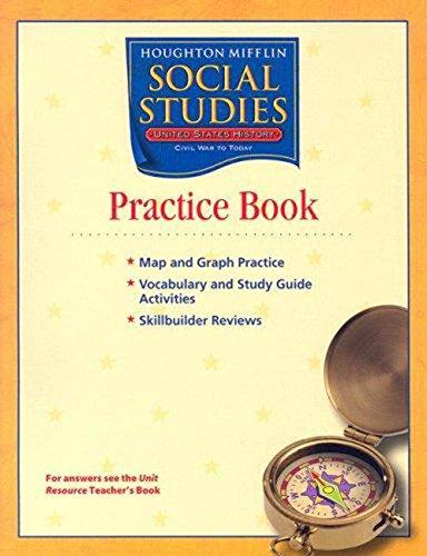 9780618441754: Houghton Mifflin Social Studies: Practice Book Volume 2 Level 5 US History: Civil War to Present