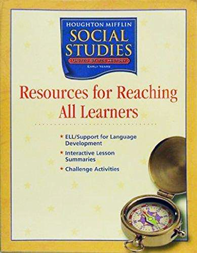 Houghton Mifflin Social Studies: Rch All Lrn Blm L5V1 Early US History: Early Years: HOUGHTON ...