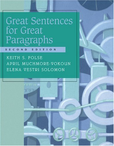 9780618444168: Great Sentences for Great Paragraphs