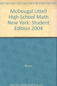 McDougal Littell High School Math New York: Student Edition 2004: MCDOUGAL LITTEL