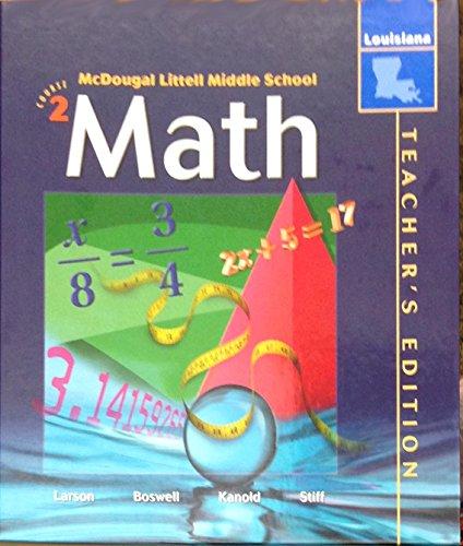 9780618447800: McDougal Littell Middle School Math Louisiana: Teacher s Edition Course 2 2005