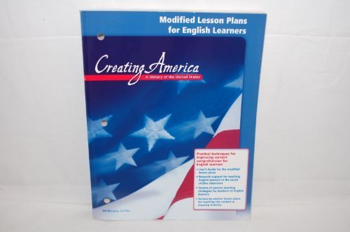 9780618451753: McDougal Littell Creating America: Modified Lesson Plans for English Learners Grades 6-8