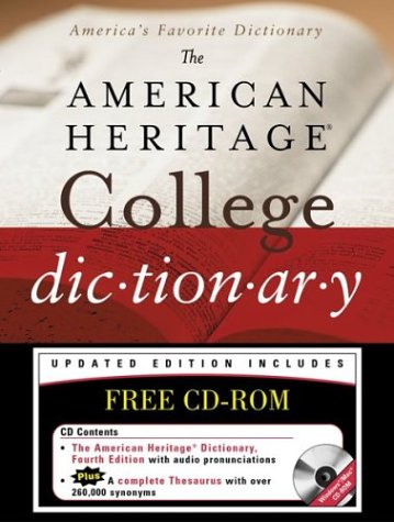 9780618453009: The American Heritage College Dictionary, Fourth Edition with CD-ROM