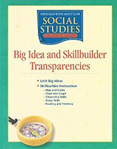 9780618462377: Houghton Mifflin Social Studies: Big Idea and Skillbuilder Transparencies Grade 3 Communities