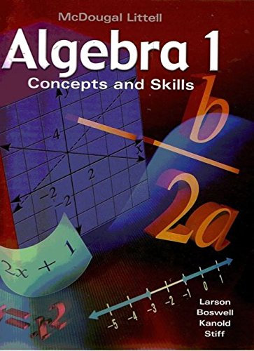 9780618463695: McDougal Concepts & Skills Algebra 1: Cuaderno de practica con ejemplos- Practice workbook with examples Answer Key Al