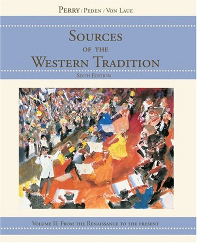 9780618473878: Sources of the Western Tradition, Vol. 2: From the Renaissance to the Present