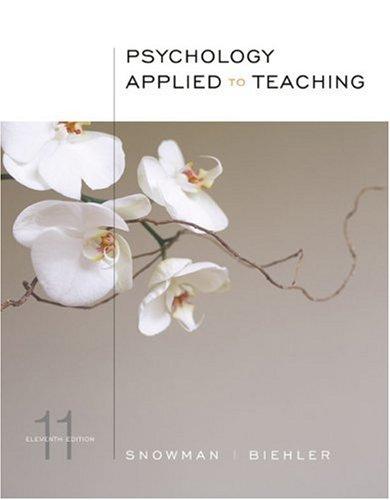 Psychology Applied to Teaching: Jack Snowman, Robert