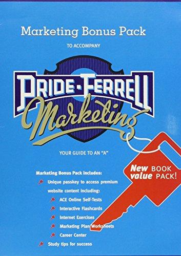 Students' Marketing Bonus Pack: Web Password Card (9780618474585) by William Pride