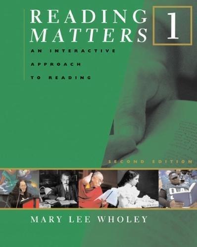 9780618475124: Reading Matters 1