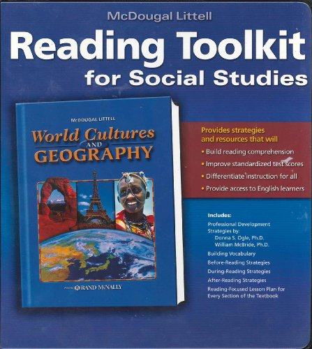 9780618476954: McDougal Littell World Cultures & Geography: Reading Toolkit for Social Studies:World Cultures and Geography Grades 6-8
