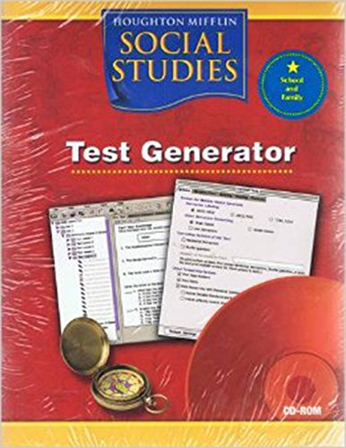 9780618477470: Houghton Mifflin Social Studies: Test Generator CD-ROM Grade 5 US History: Civil War to Today