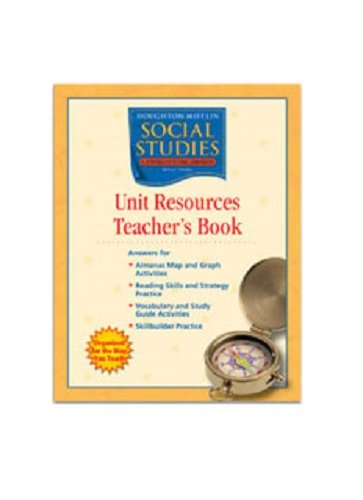 9780618477616: Houghton Mifflin Social Studies: Unit Resources Teacher's Book Grade 6 World Cultures and Geography