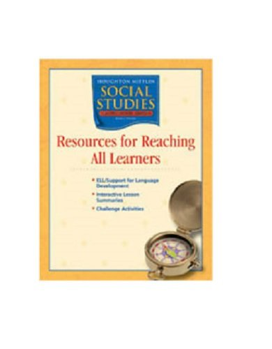 9780618477647: Houghton Mifflin Social Studies: Resources Research All Learn Blackline Masters Grade 6 Western Hemisphere and Europe