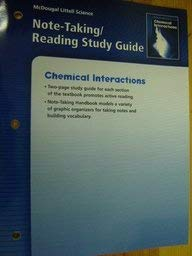 McDougal Littell Science: Chemical Interactions: Note-Taking / Reading Study Guide: MCDOUGAL ...