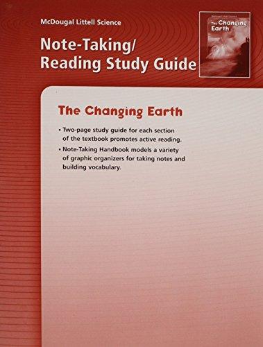 McDougal Littell Science: Note-taking Reading Study Guide: MCDOUGAL LITTEL
