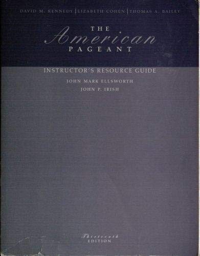 9780618479412: The American Pageant: Instructor's Resource Guide (13th Edition)