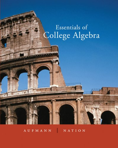 9780618480968: Essentials of College Algebra