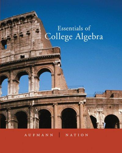 9780618480968: Essentials of College Algebra