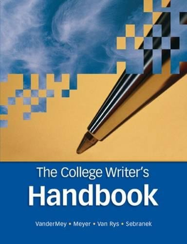 9780618491698: The College Writer's Handbook