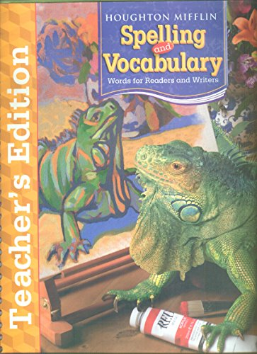 9780618492121: Houghton Mifflin Spelling and Vocabulary: Teachers Edition Grade 5 2006