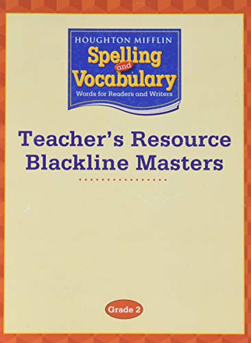 9780618492152: Houghton Mifflin Spelling and Vocabulary: Teacher's Resource Blackline Masters Grade 2