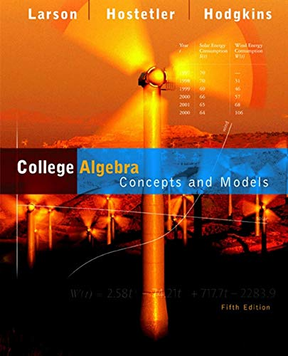 9780618492817: College Algebra: Concepts and Models