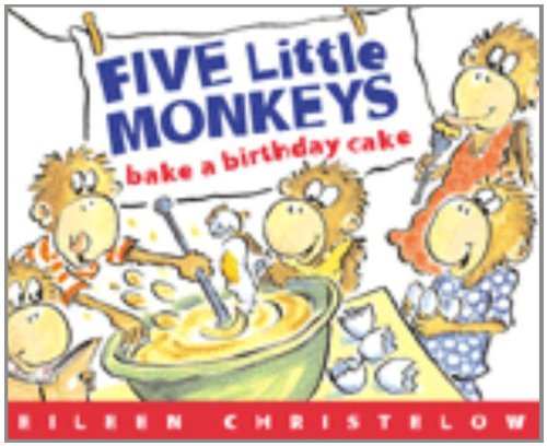 9780618496495: Five Little Monkeys Bake a Birthday Cake Book & Cassette: Formerly Titled Don't Wake Up Mama [With Cassette]