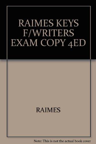 9780618496501: RAIMES KEYS F/WRITERS EXAM COPY 4ED