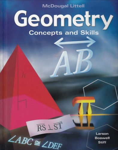 9780618501571: McDougal Concepts & Skills Geometry: Student Editon Geometry 2005