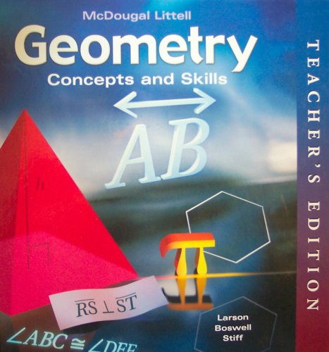 9780618501588: McDougal Concepts & Skills Geometry: Teacher Edition Geometry 2005