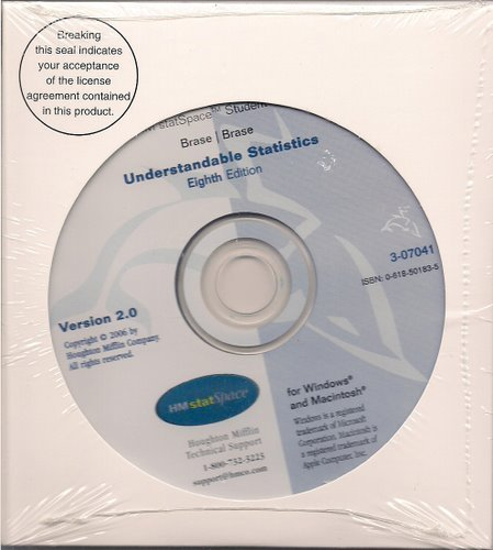 9780618501830: Hm Statspace Student Cd-rom: Used with ...Brase-Understandable Statistics: Concepts and Methods