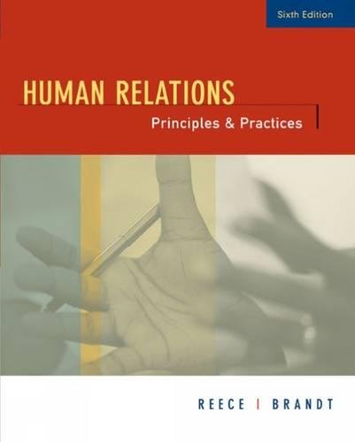 9780618502097: Human Relations: Principles and Practices
