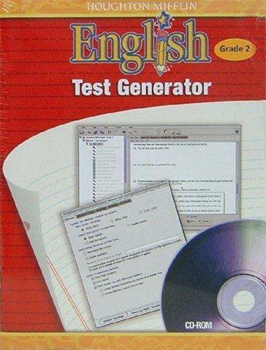 9780618502387: Houghton Mifflin English: Test Generator CD-ROM Grade 2